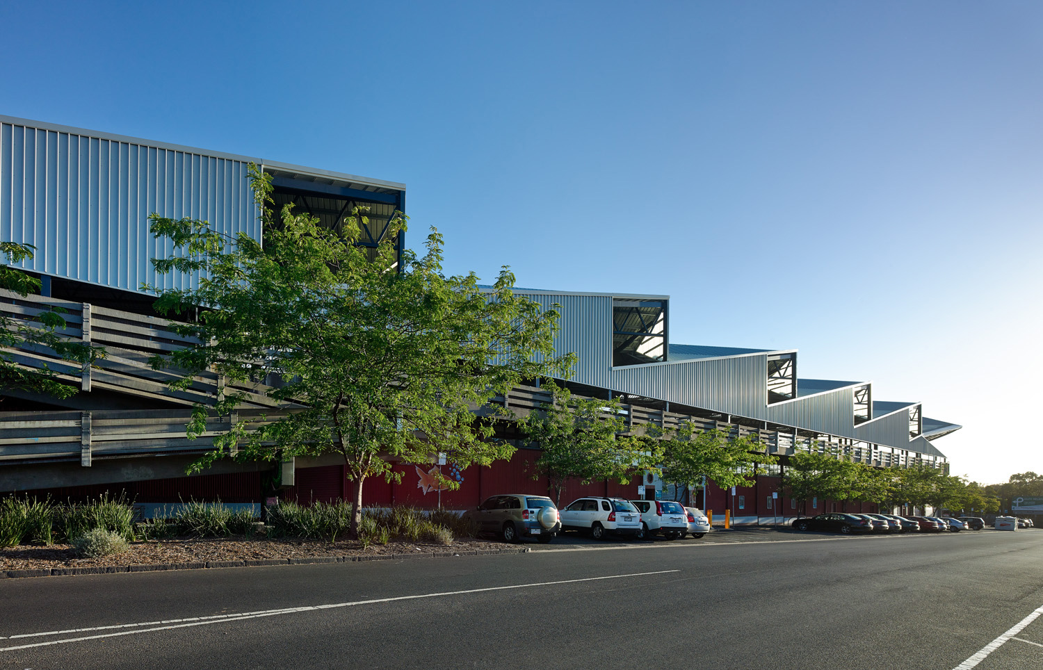 Paul Morgan Architects South Melbourne Market Roof streetscape view