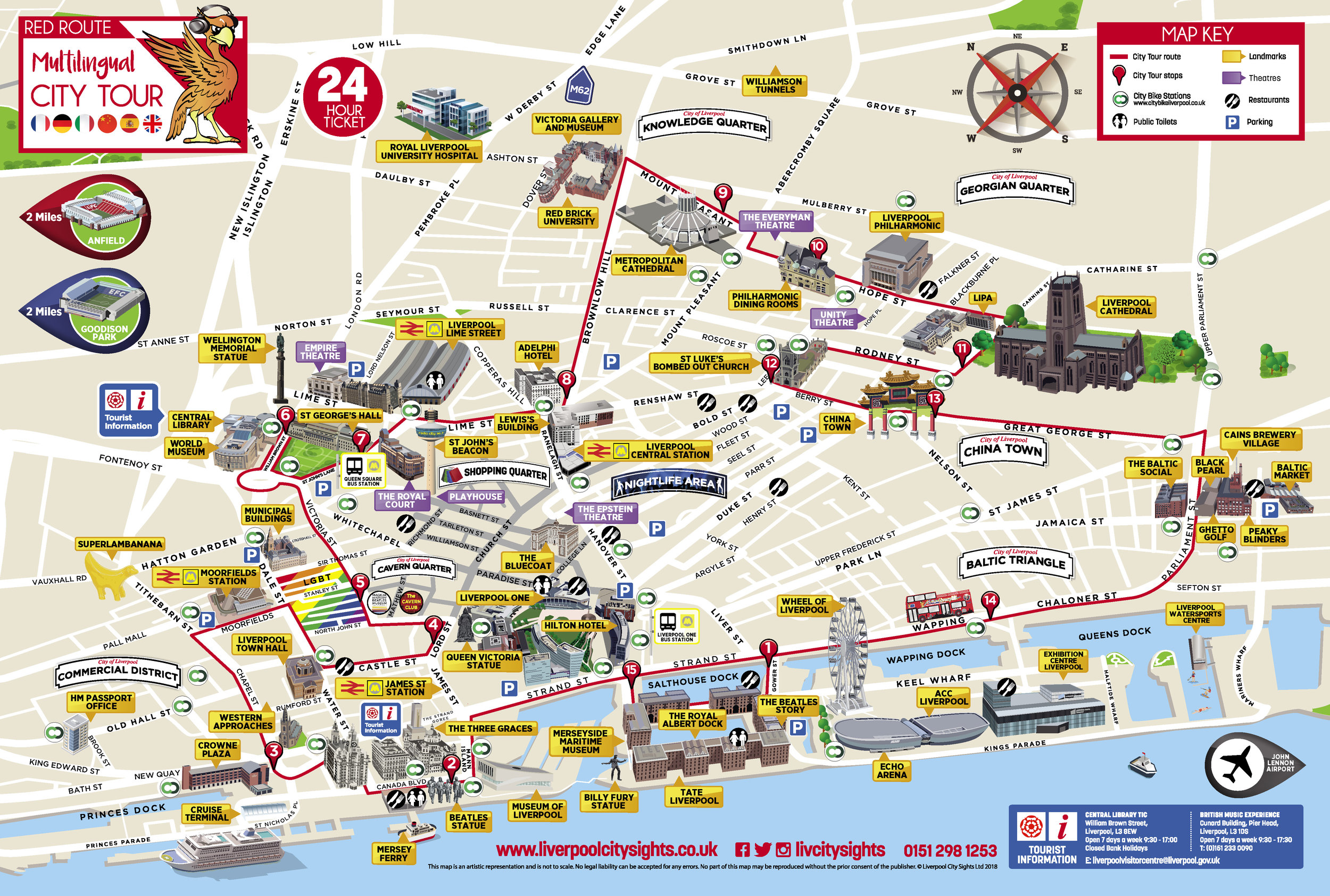 Red Route - City Tour Map Download