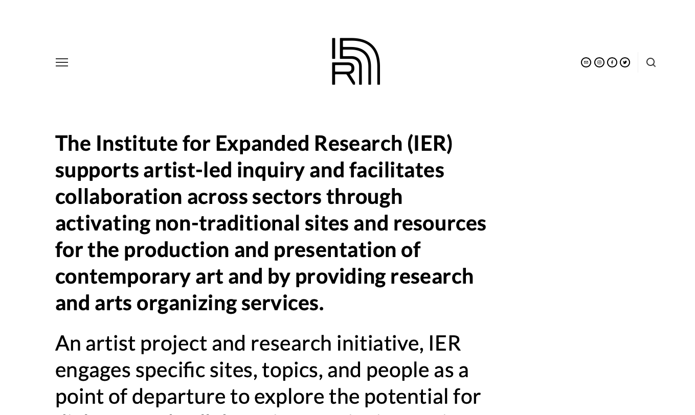 Screenshot of Institute for Expanded Research Homepage