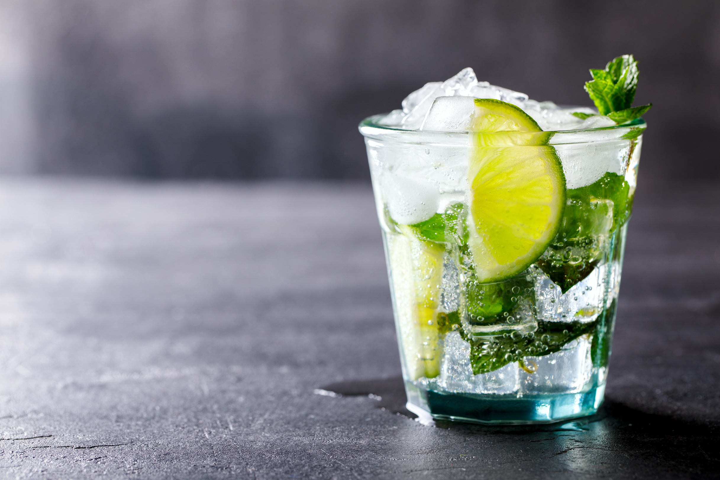 MOJITO - 50ml Streamertail Rum1/2 a Lime (cut into 3-4 wedges)1 tsp Sugar10-15 mint leavesSoda WaterPut the lime wedges and sugar in the glass and muddle (mash) them together. Clap the mint leaves and add to the Lime/sugar juice. Fill half the glass with ice (crushed if you can) and add the Streamertail then stir. Top up with more ice, Soda and a sprig of mint.