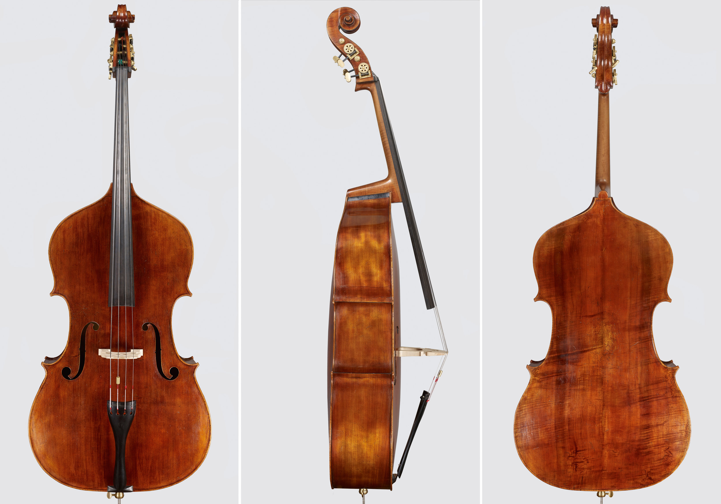 Amati-inspired Bass made with the artistic direction of Scott Pingel