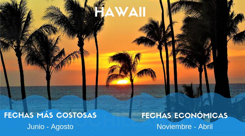 Hawaii y el Pacífico Norte tienen su temporada baja durante el invierno del hemisferio norte contrario al Caribe. Aunque es temporada lluvisa en Hawaii, las lluvias no son tan copiosas y no deben representar una amenaza al disfrute de tu viaje