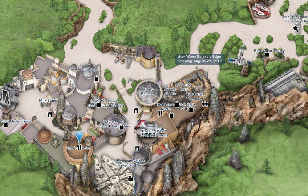 Mapa cortesía de Disney