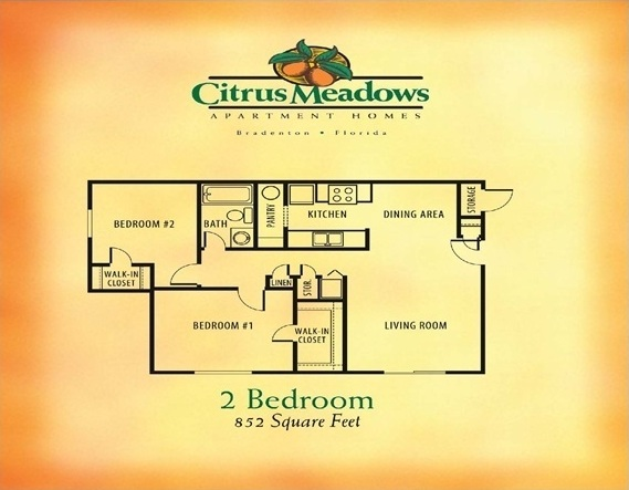 2 Bedroom / 1 Bathroom -