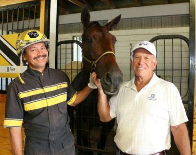 Trainer Francisco Del Cid, JJ Alex & owner Mario Mazza