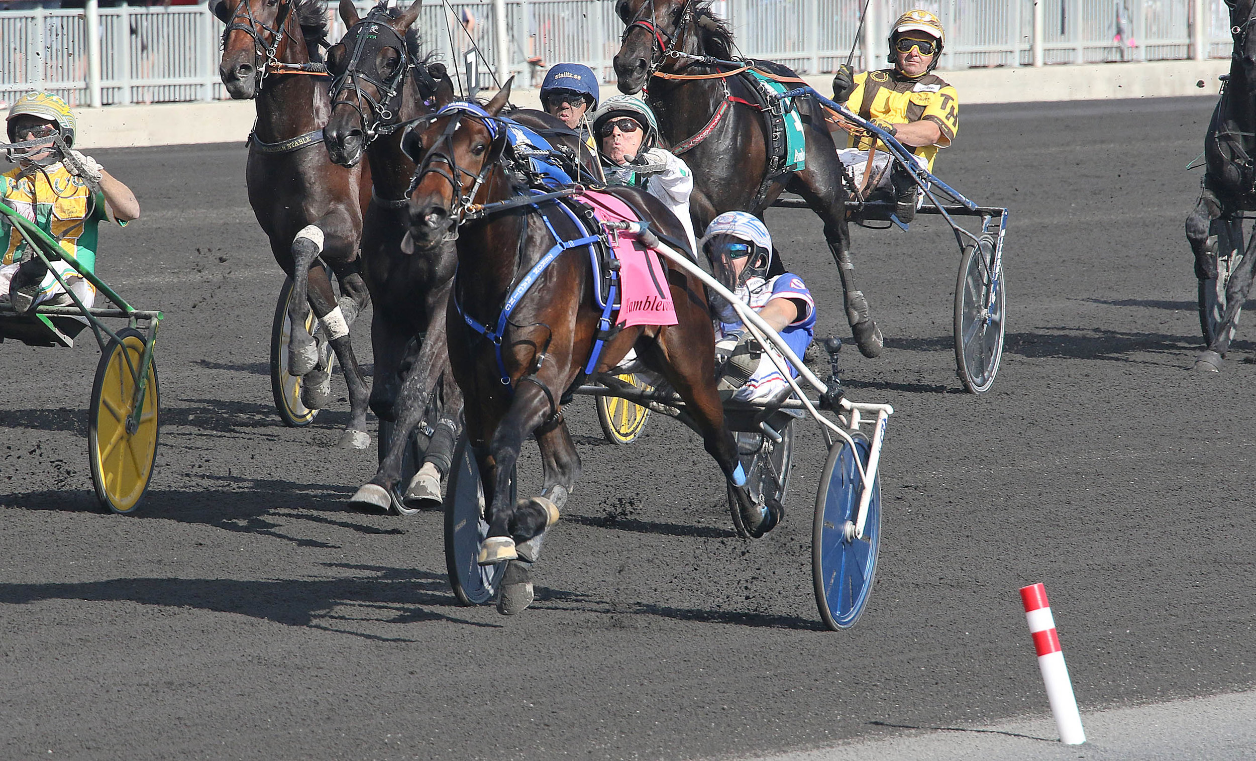 PHOTO: Atlanta and driver Scott Zeron take the 93rd Hambletonian Saturday at the Meadowlands. (Credit: Lisa Photo)
