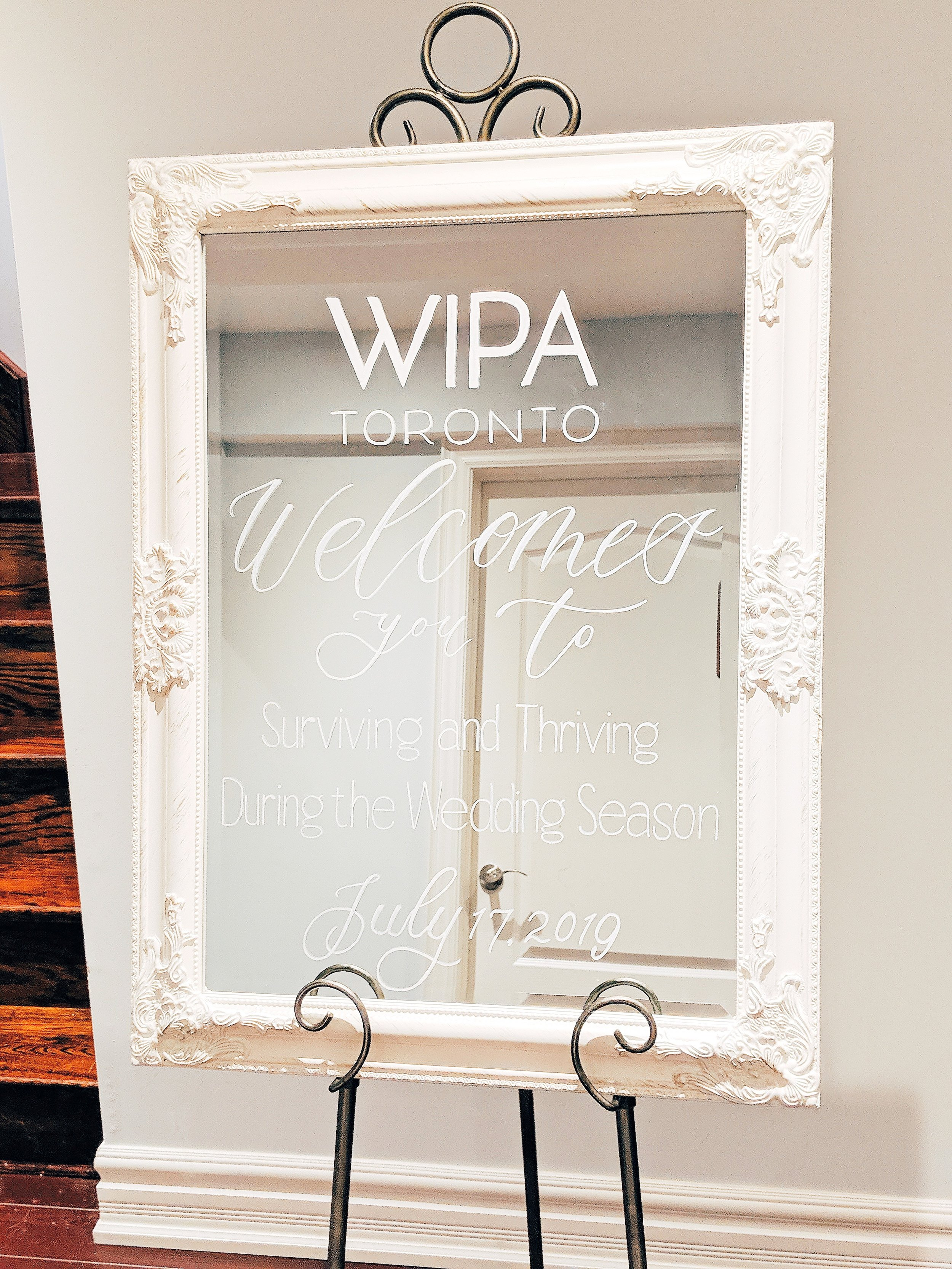 """23"""" x 32"""" Mirror (White) - Ideal for Welcome Sign.Rental Fee: $30; Security Deposit: $60"""