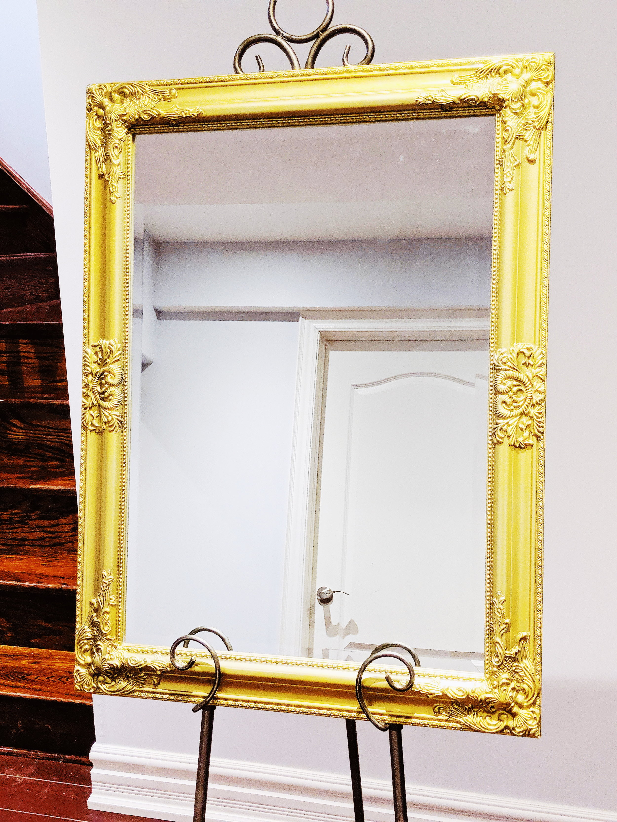 """23"""" x 32"""" Mirror (Gold) - Ideal for Welcome Sign.Rental Fee: $30; Security Deposit: $60"""