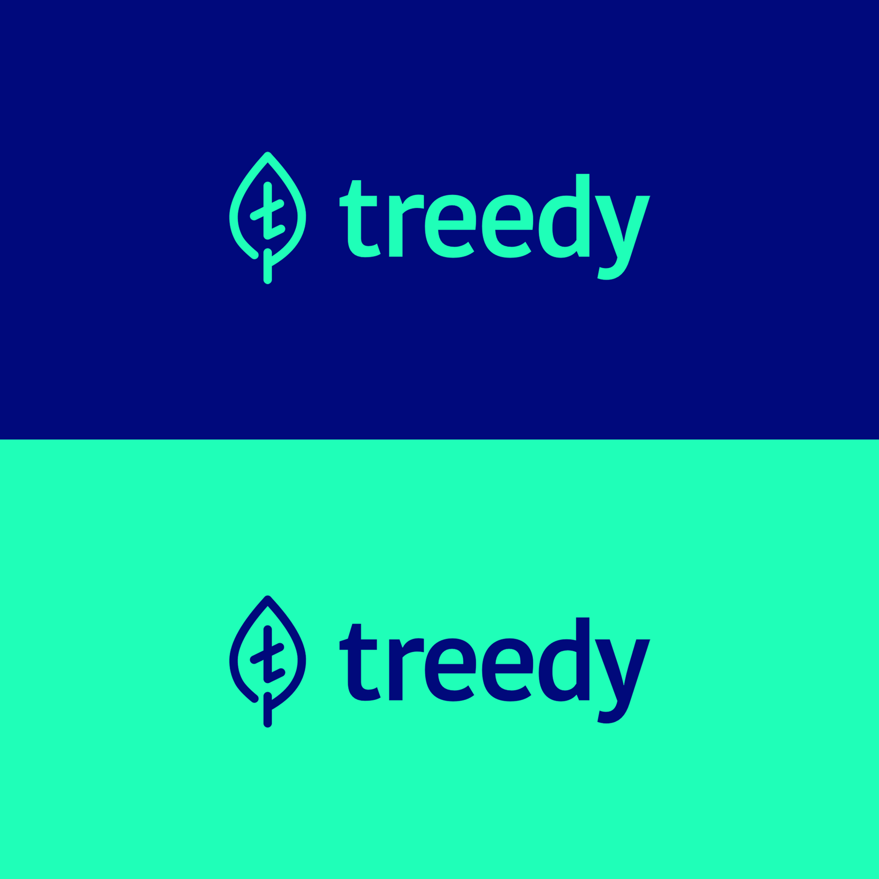 "Colors and brandingLogo Development - Treedy was a play on ""treaty,"" representing an agreement between two parties. We worked with the ""tree"" concept to incorporate a minimalist logo that brought together a lowercase t and a leaf shape. The brand palette focused on trustworthy colors popular in financial apps—like Mint, Robinhood, and others—while still feeling hip and modern."