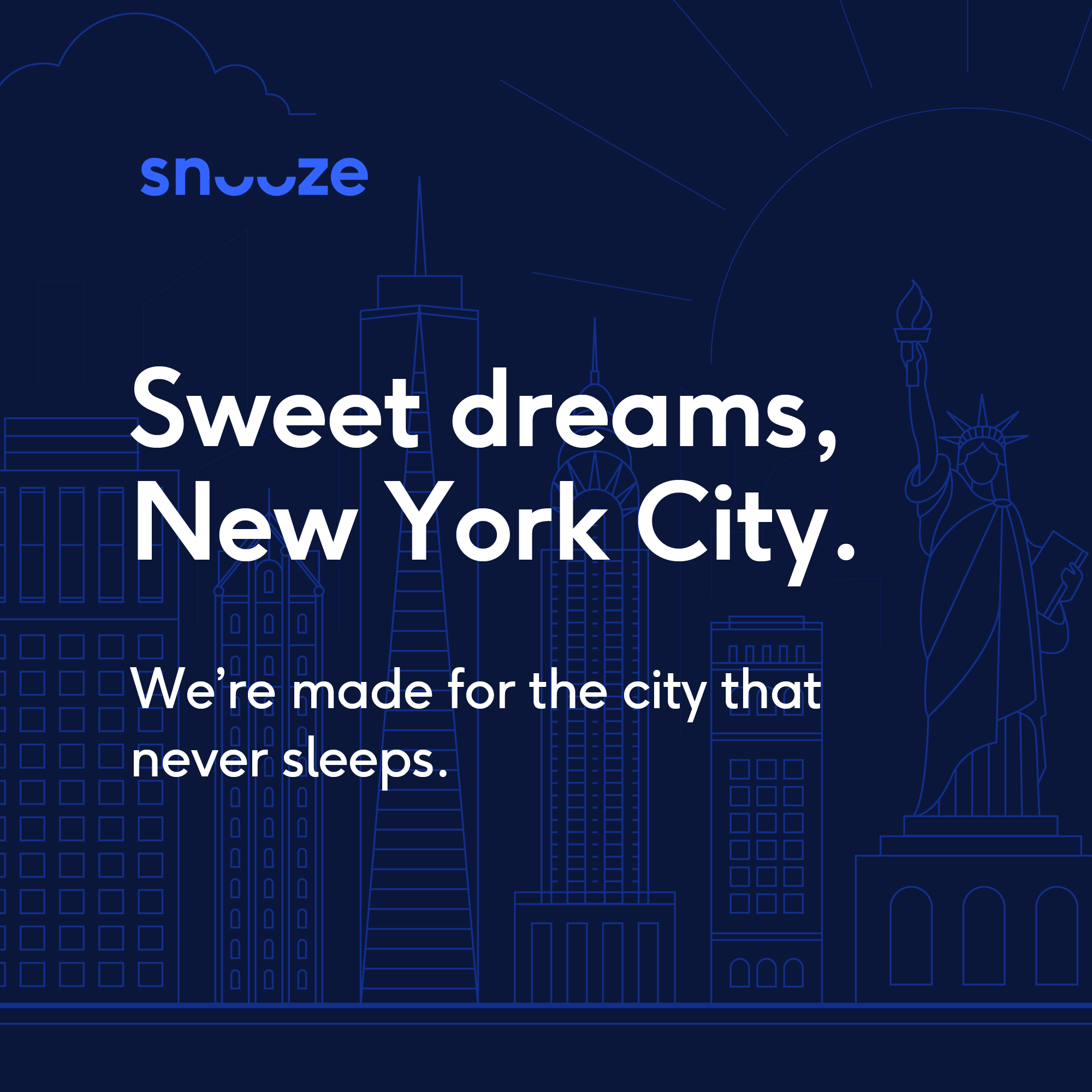 "Instagram post says ""Sweet dreams, New York City"""