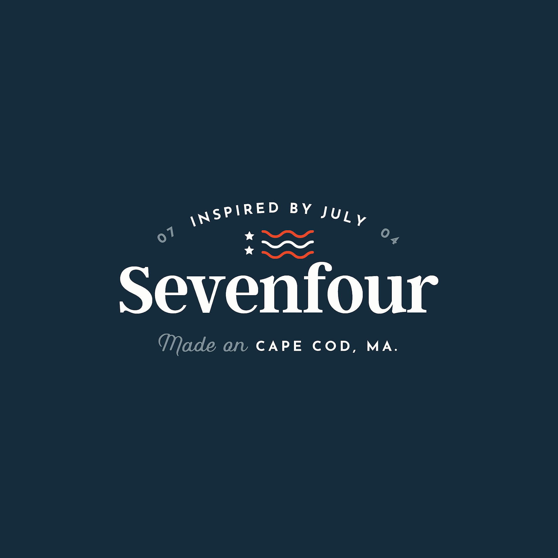 Inspired by JulyLogo & Name Development - An apparel company for sundresses and salt air. For the working mom and the beach bum.The Sevenfour name comes from the American holiday Fourth of July (07/04). The brand's sophisticated, feminine logo draws from nostalgia for summers spent on Cape Cod.
