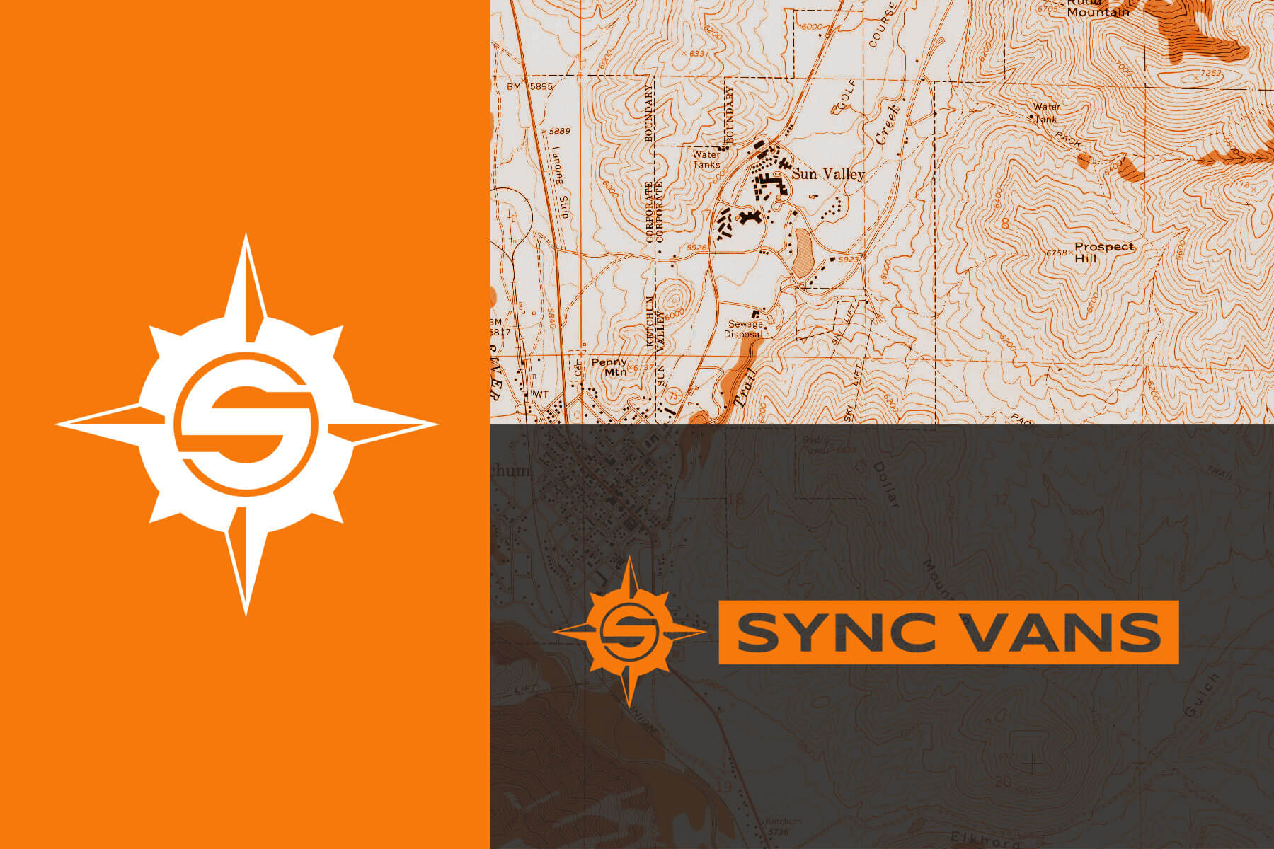 Exploration and utilityLogo Development - Inspired by a compass rose and designed to be stencil-friendly (did someone say metal badging?), the SYNC Vans logo unites a spirit of travel with the utility of a livable vehicle.
