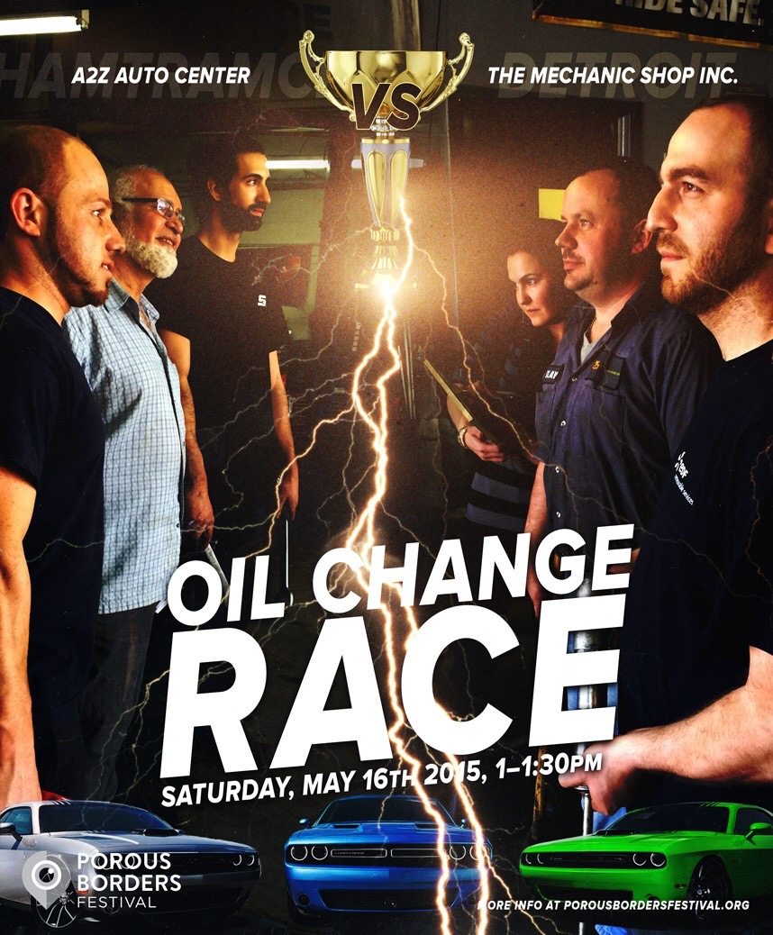 Flier design/ conception by extraordinaire Sean Yalda featuring A2Z Auto Repair vs. The Mechanics Shop