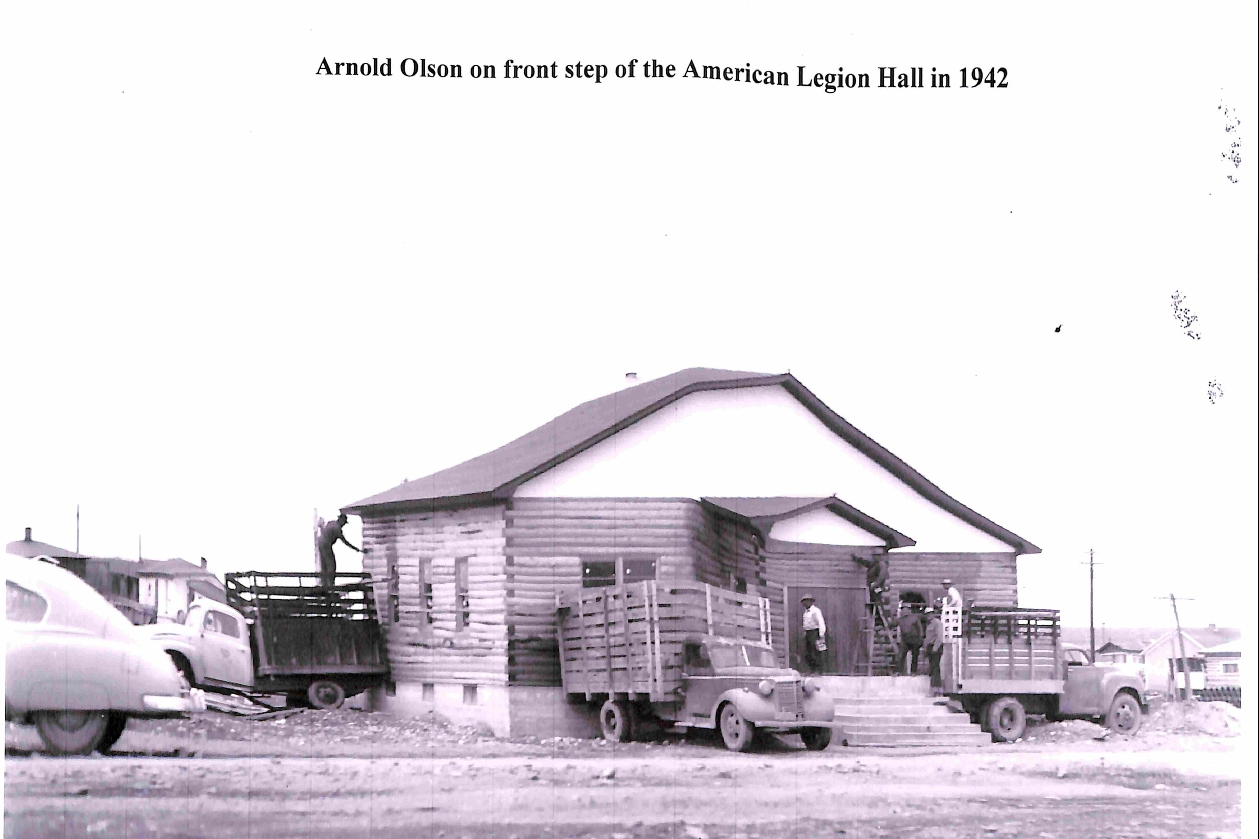Arnold Olson at the American Legion