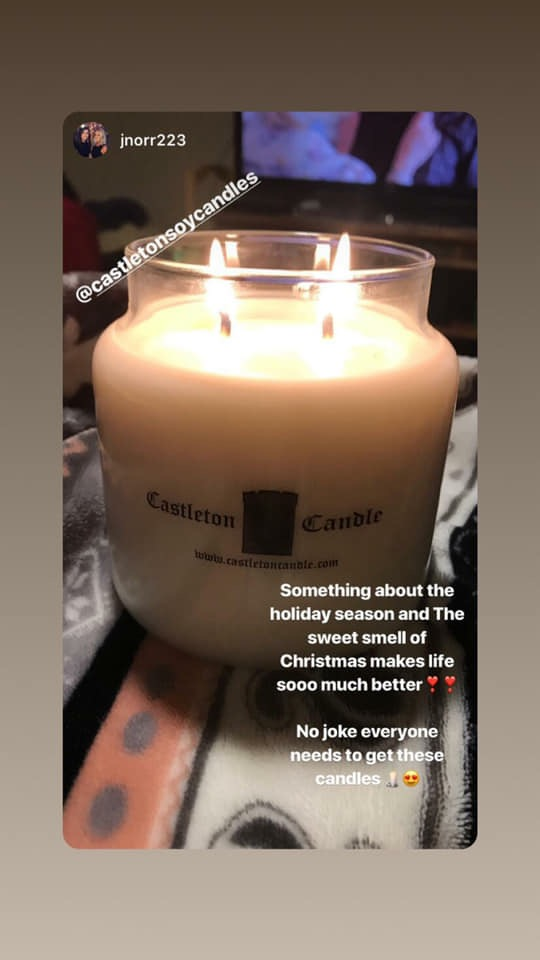 """Jamie N. - Clifton Park, NY  """"So in love with the scents especially the scotch pine!! I love that my apartment smells like Christmas within minutes of lighting it! And of course how AMAZING the people are who make them! They put so much love into it and make sure you get the BEST QUALITY! Definitely give them an 11/10!"""""""