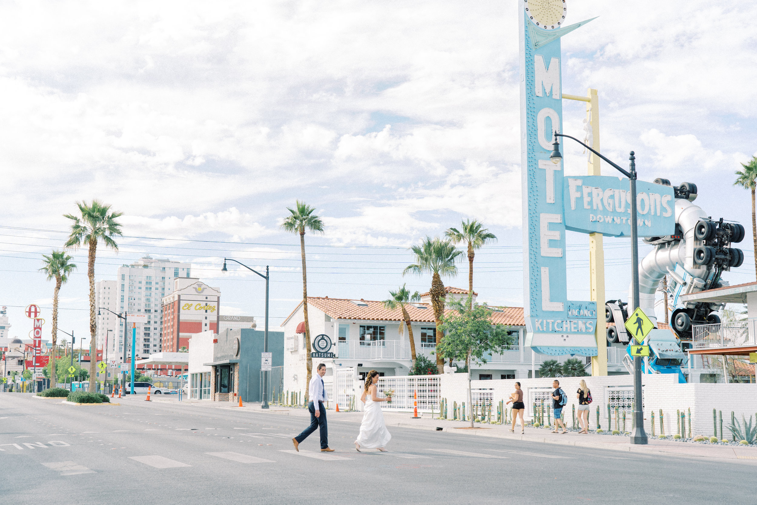 in the heart of vintage las vegas - Walk outside our front door and you will be surrounded by vintage neon signs and gorgeous mid-century architecture. The perfect backdrop to your Vegas elopement.