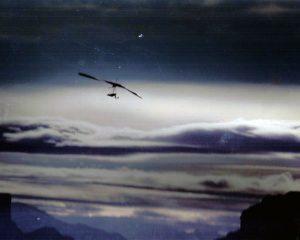 Owner Darrel Bossert flying