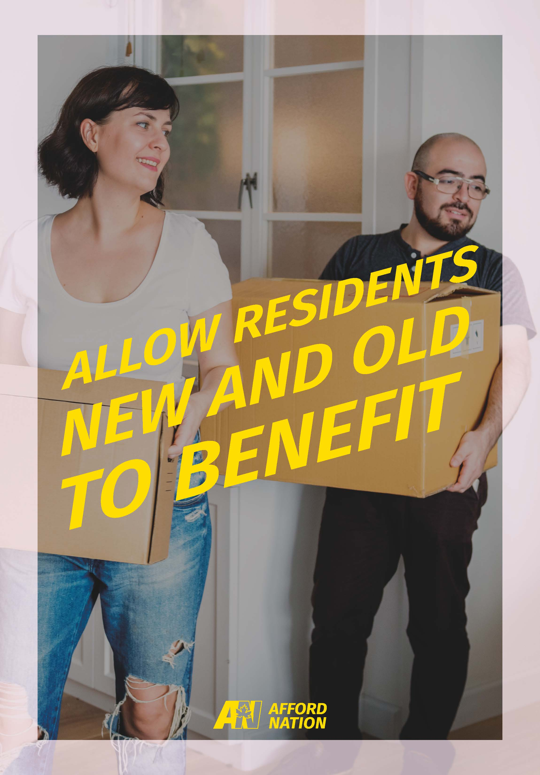 Allow residents new and old to benefit