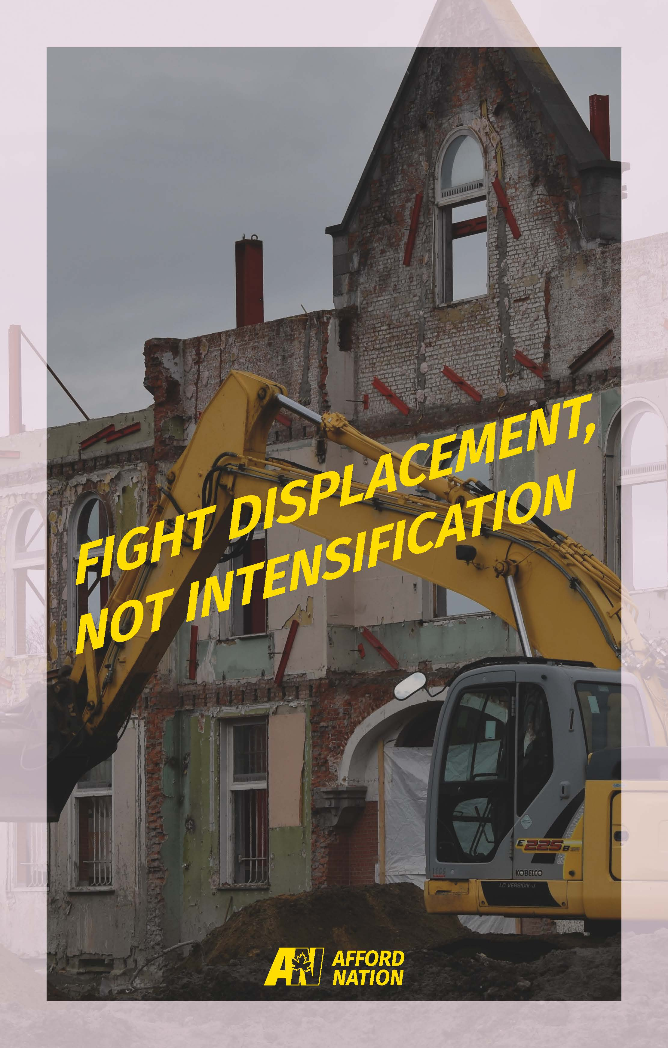 Fight displacement, not intensification