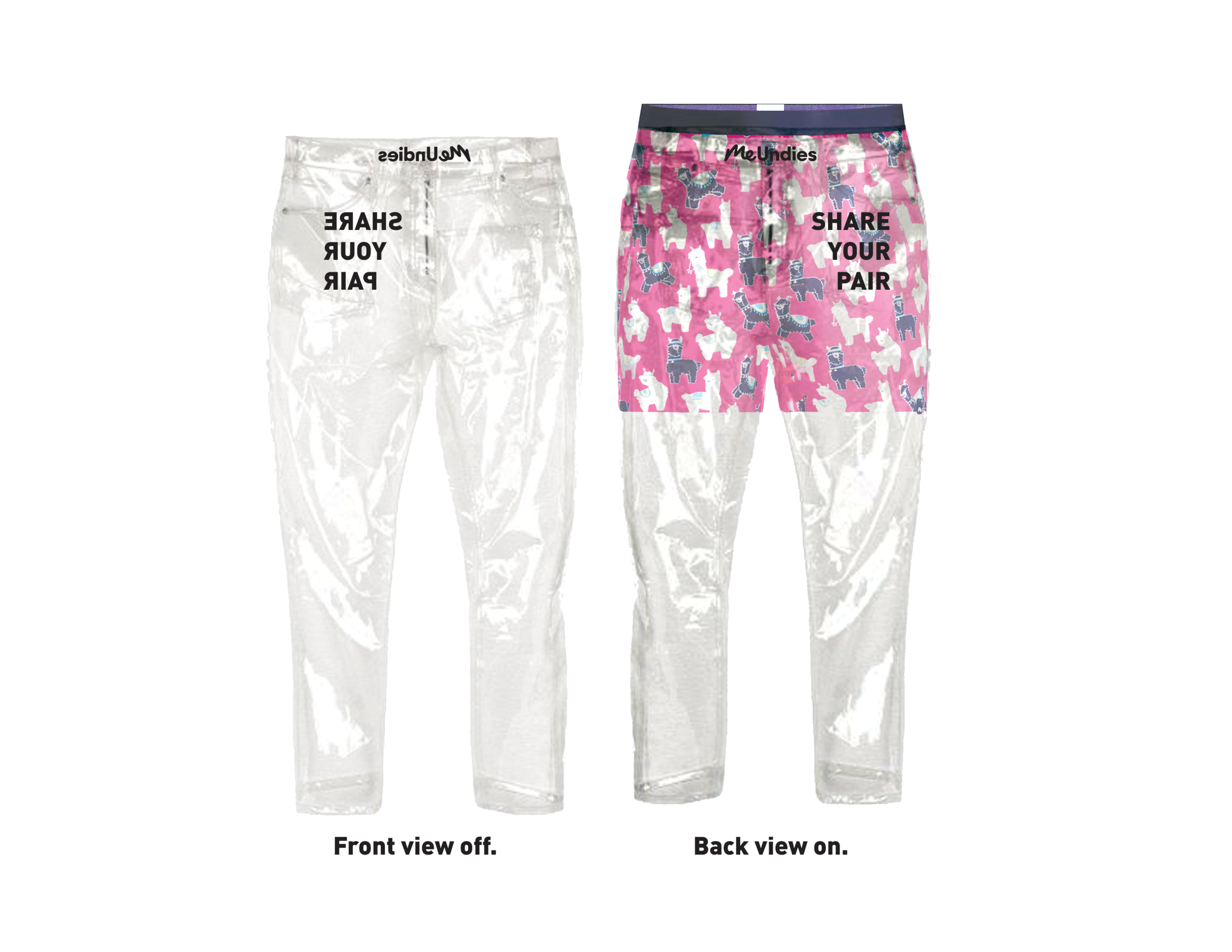 Every customer who signs up for a monthly subscription also gets see-through pants to share their pairs.