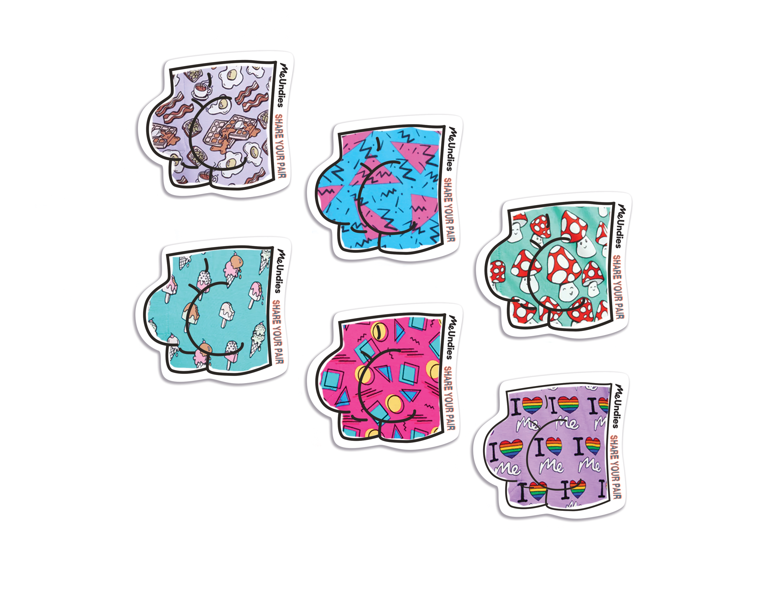 Stickers will come with orders mirroring the designs they ordered.