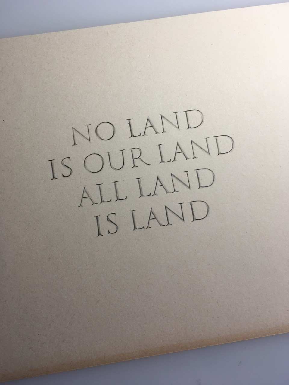 Lisa Wilkens, No Land Is Our Land All Land Is Land (2019). Chinese ink on paper