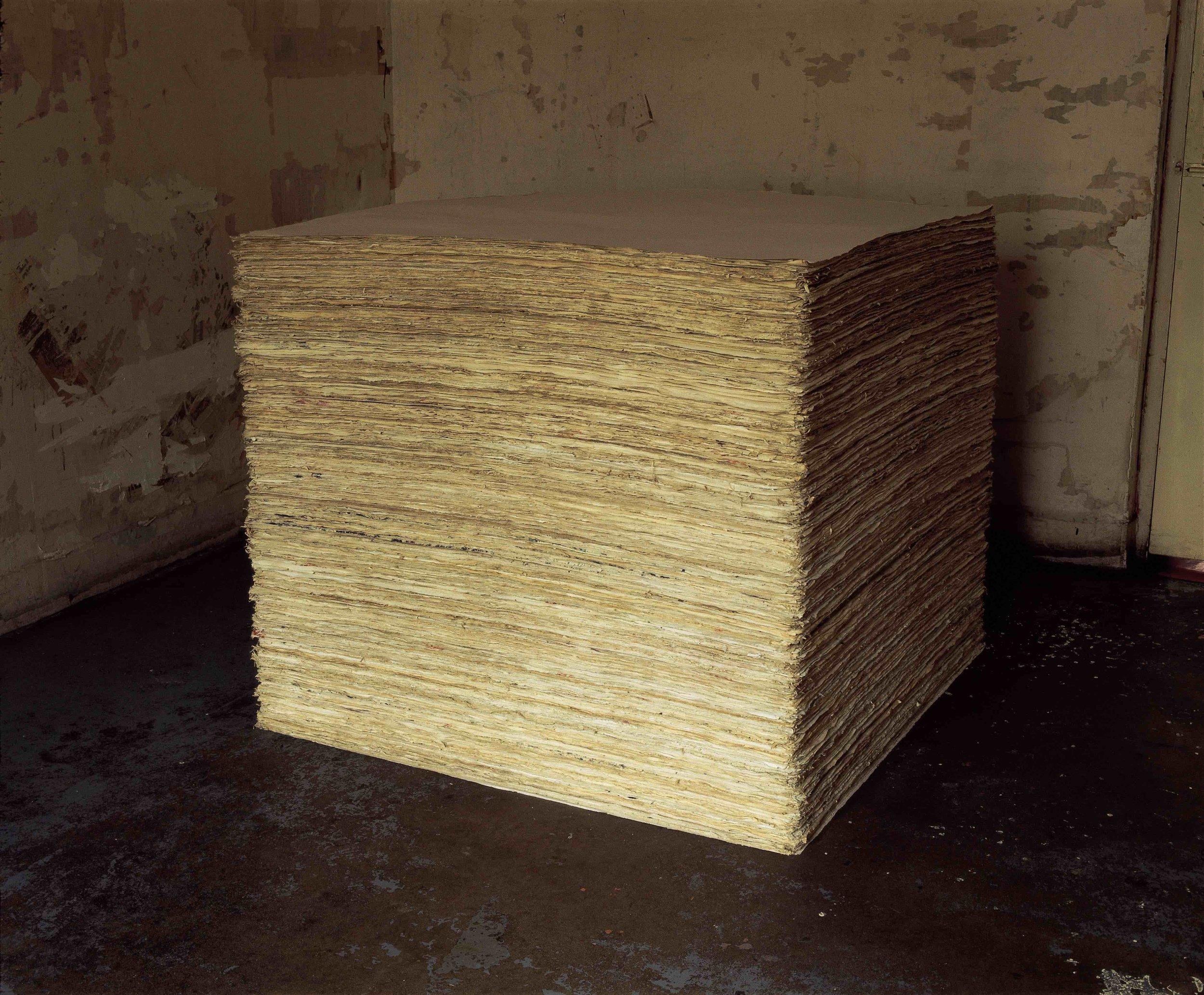 A cubic meter of Xuan paper in Beijing. Fangzhen project (1988). 方阵计划; 一立方宣纸在北京