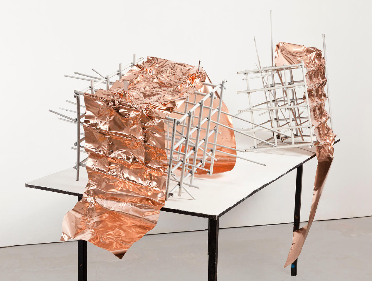 Sketches for the Great Abyss (2018). Steel and copper. Photo by David Bennett