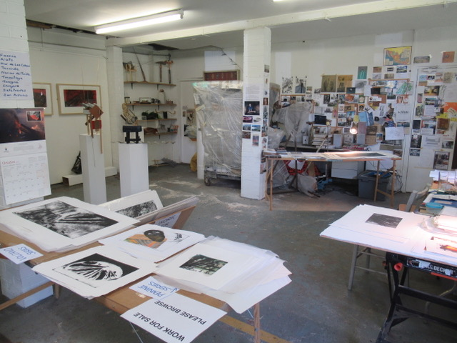 Jill Randall's studio in Rossendale