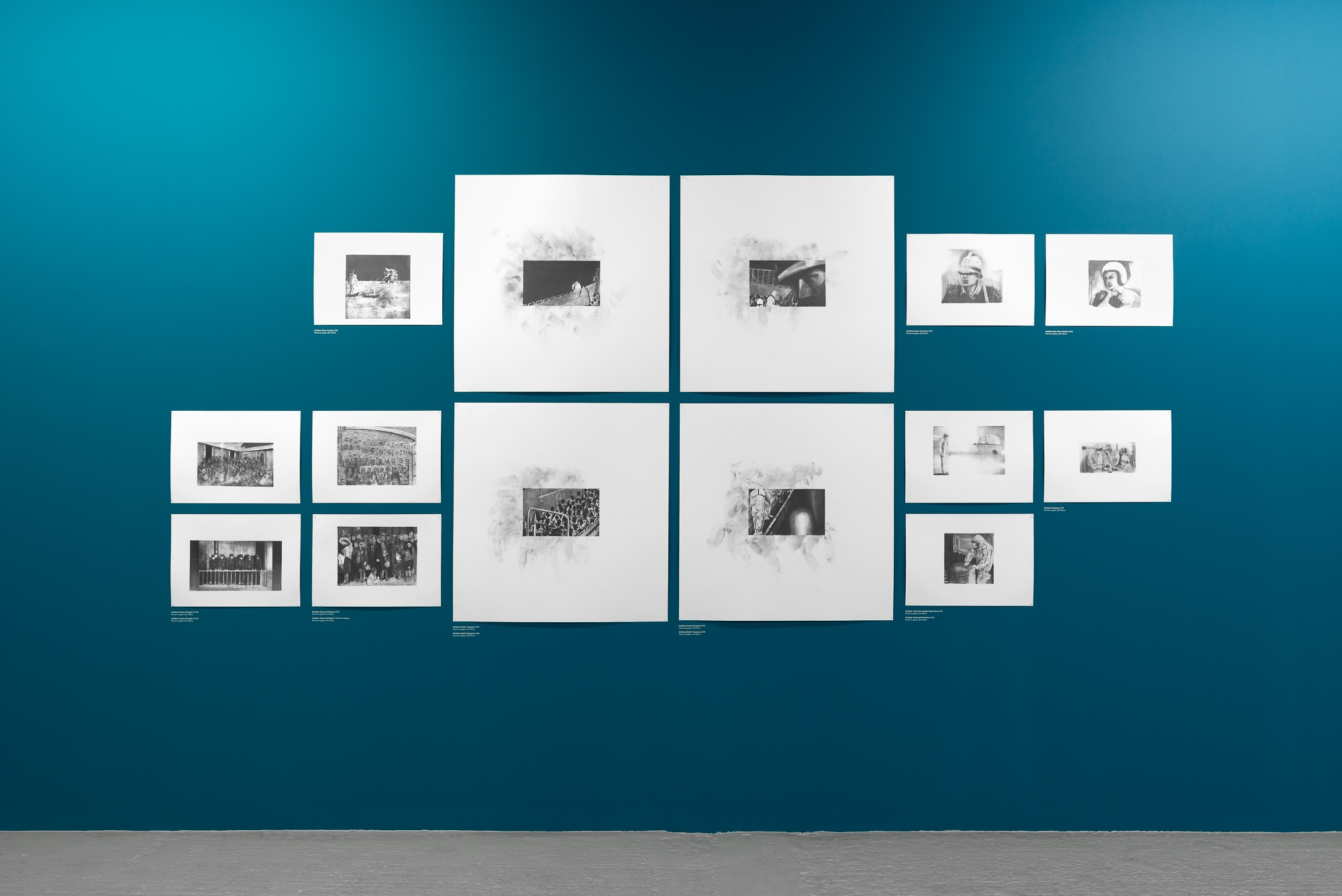 Installation view of Marc Bauer, Mal Ȇtre / Performance. Image: Eva Herzog. Courtesy the artist and Drawing Room, London