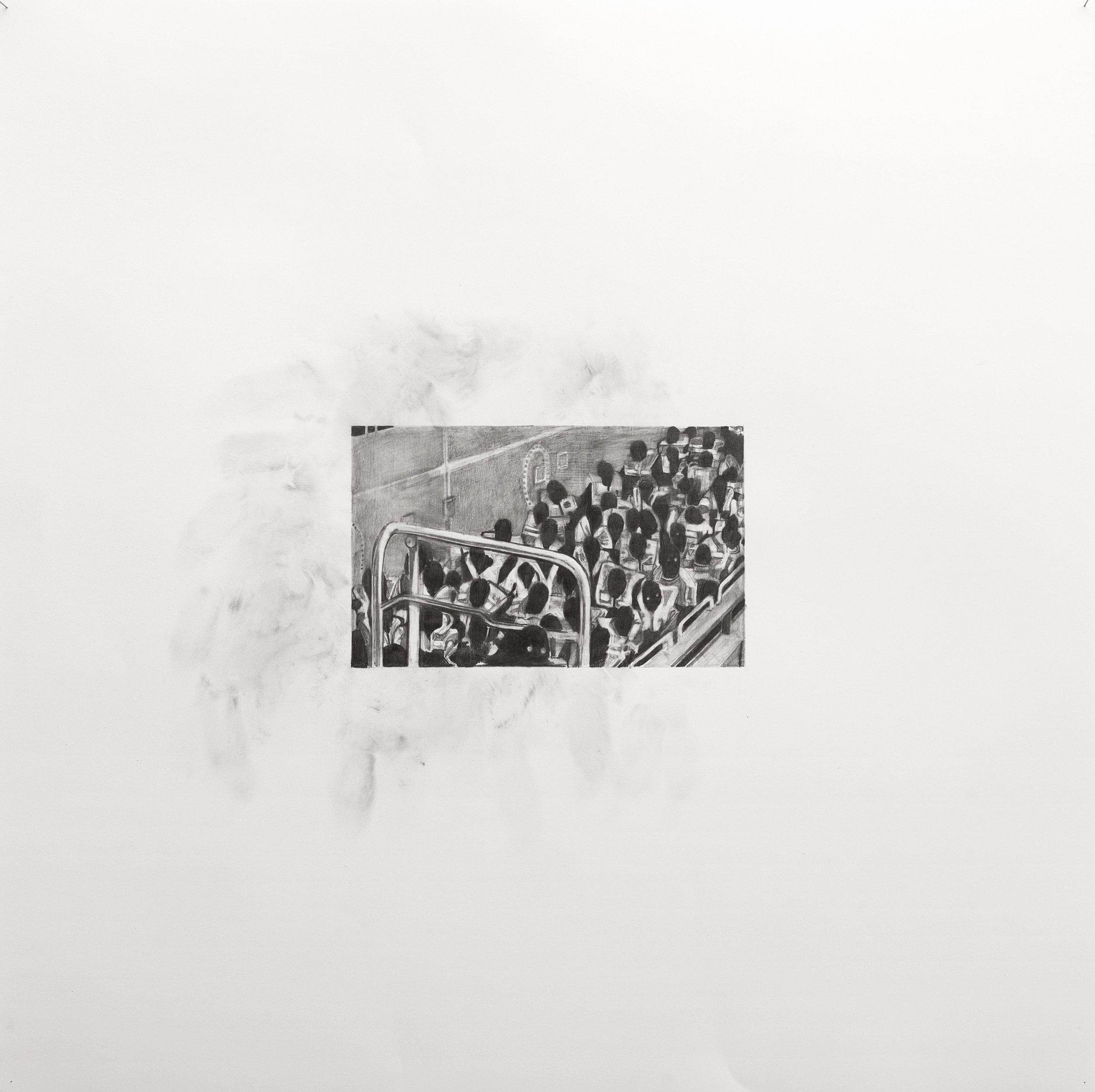 Marc Bauer –Untitled, Detail 3 Aquarius, 2018. Pencil on paper, 70 x 70 cm