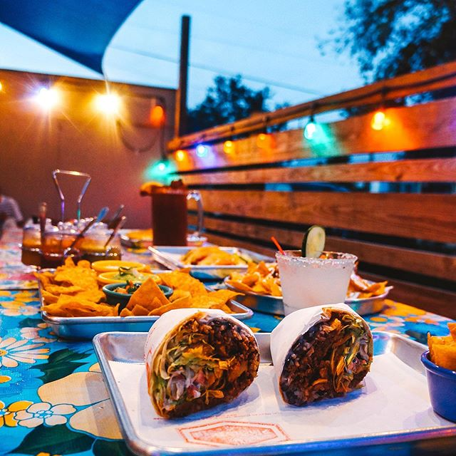 """Come check out our lights in our back patio. Grab refreshing """"El Fresco"""" to pair with your antojitos.  Ketel vodka 