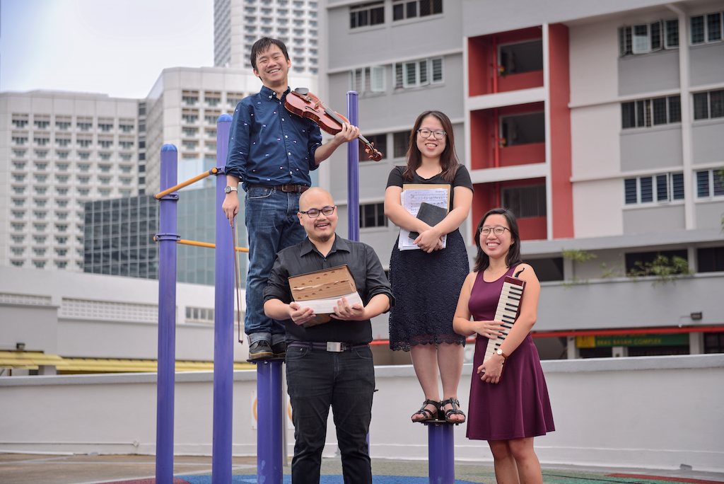 Left to right: Wilford Goh, Bertram Wee, Lynette Yeo, Zephany Hoe