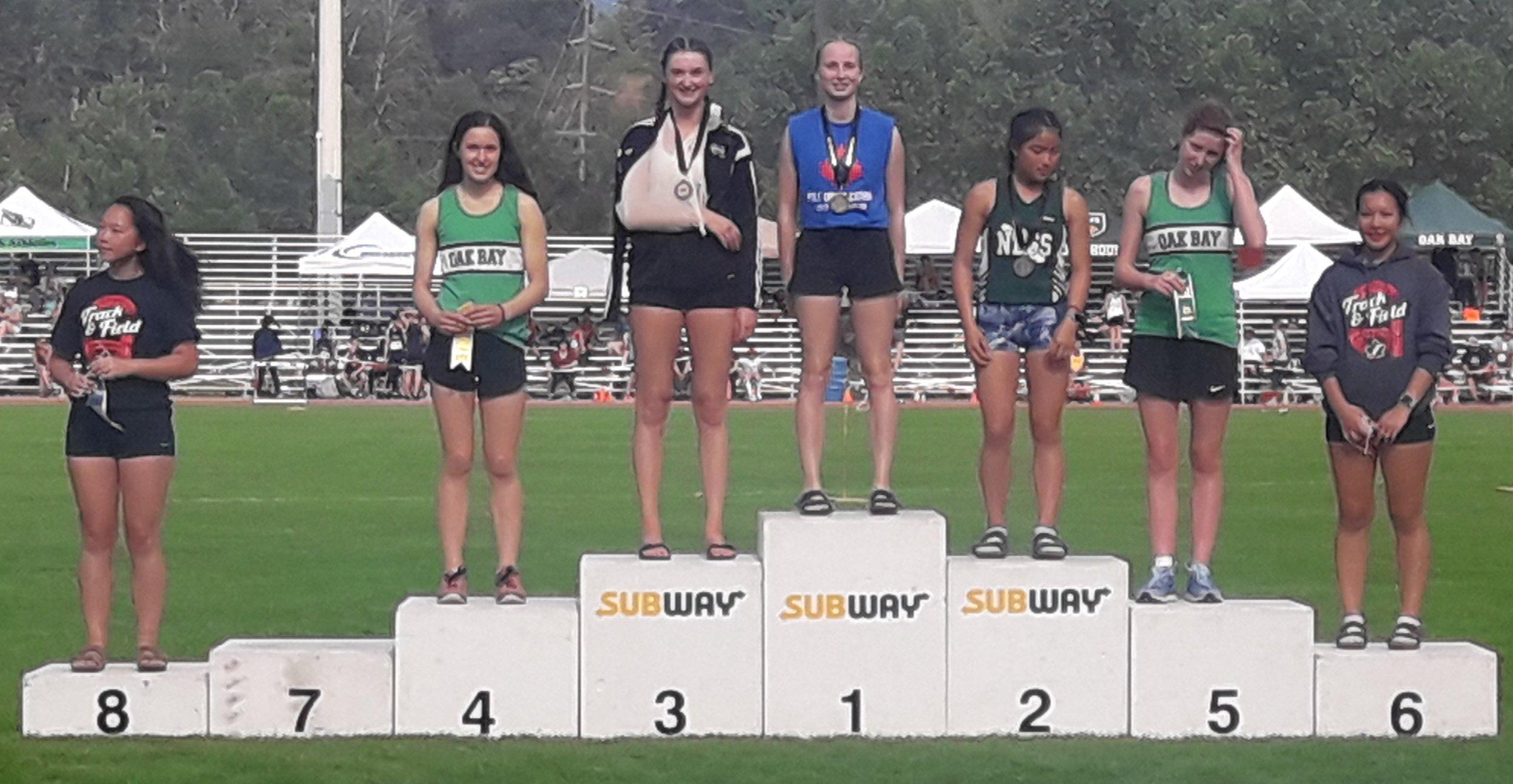 2019 BCHS Olivia, Macey podium.jpg