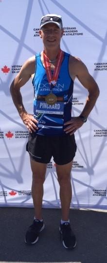 Mark Pinckard Masters medallist at Nationals