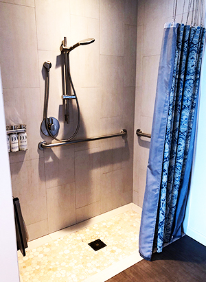 accessible shower with no barrier