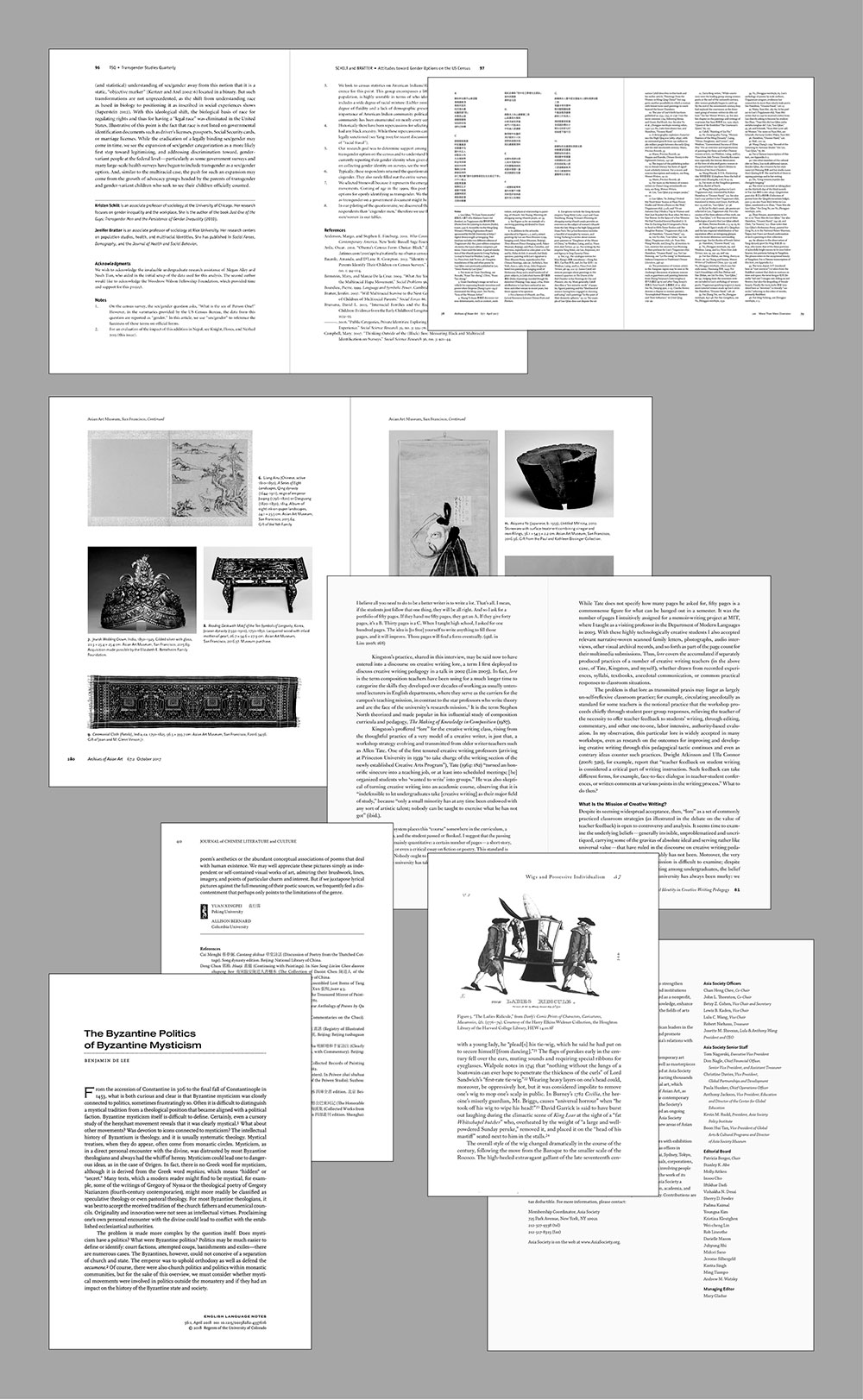 Text page designs -