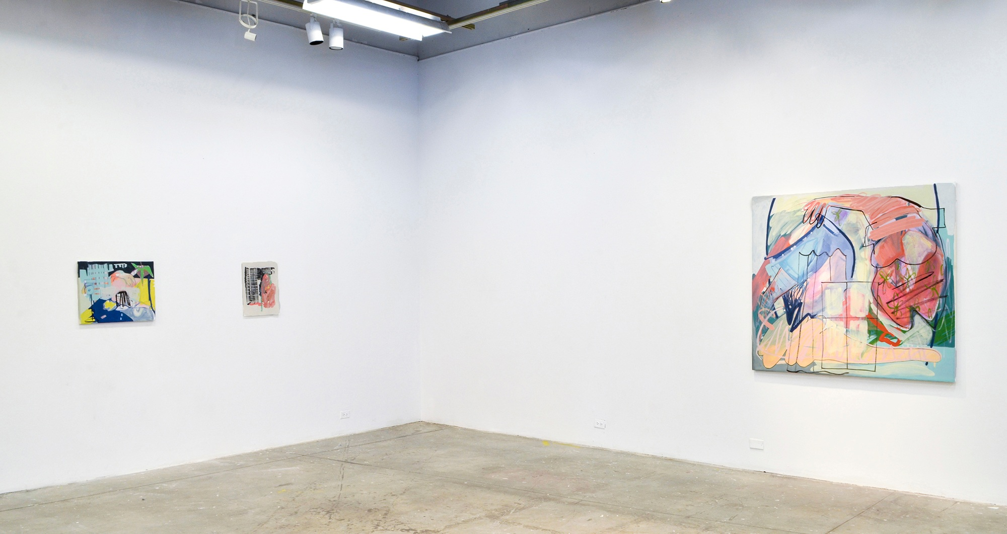 Installation of work created during VCU SSP, 2015. VCU Painting/Sculpture Galleries, Richmond, VA.