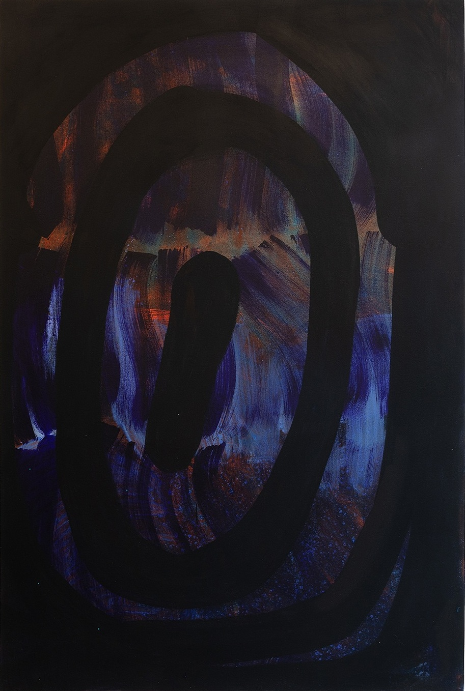 "Eye,  2019. Acrylic on canvas, 48""x72"""