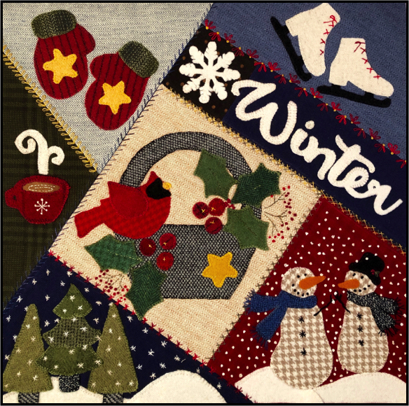 CRAZY SEASONS MYSTERY BLOCK #9 WINTER