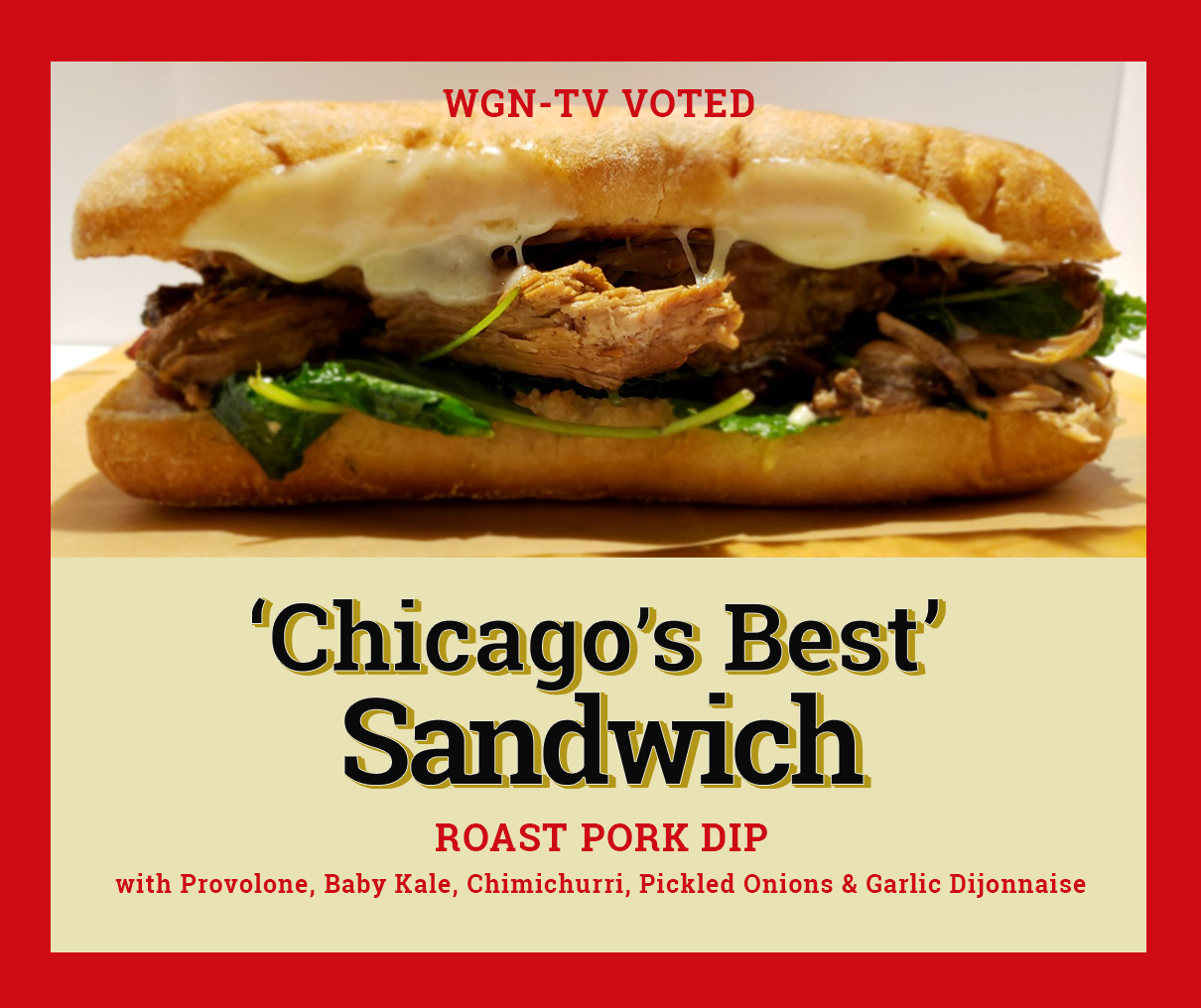 Chicago's best sandwich Sawmilly
