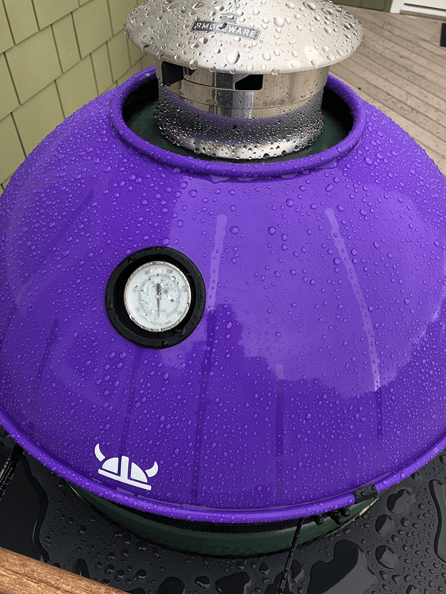Pictured Above: Beads of rain rolling off the Armor Shield's protective powder-coated finish.