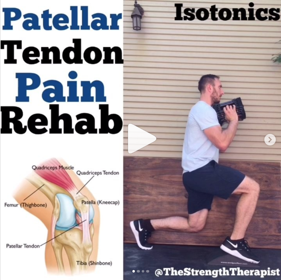 How To Use Wedge Effect for Patellar Tendon Pain Rehab - I located, established contacted, and coordinated a collaboration with The Strength Therapist. This was part of an effort to boost product education so people could understand all the ways they could incorporate Wedge Effect whether it's exercise or physical therapy.