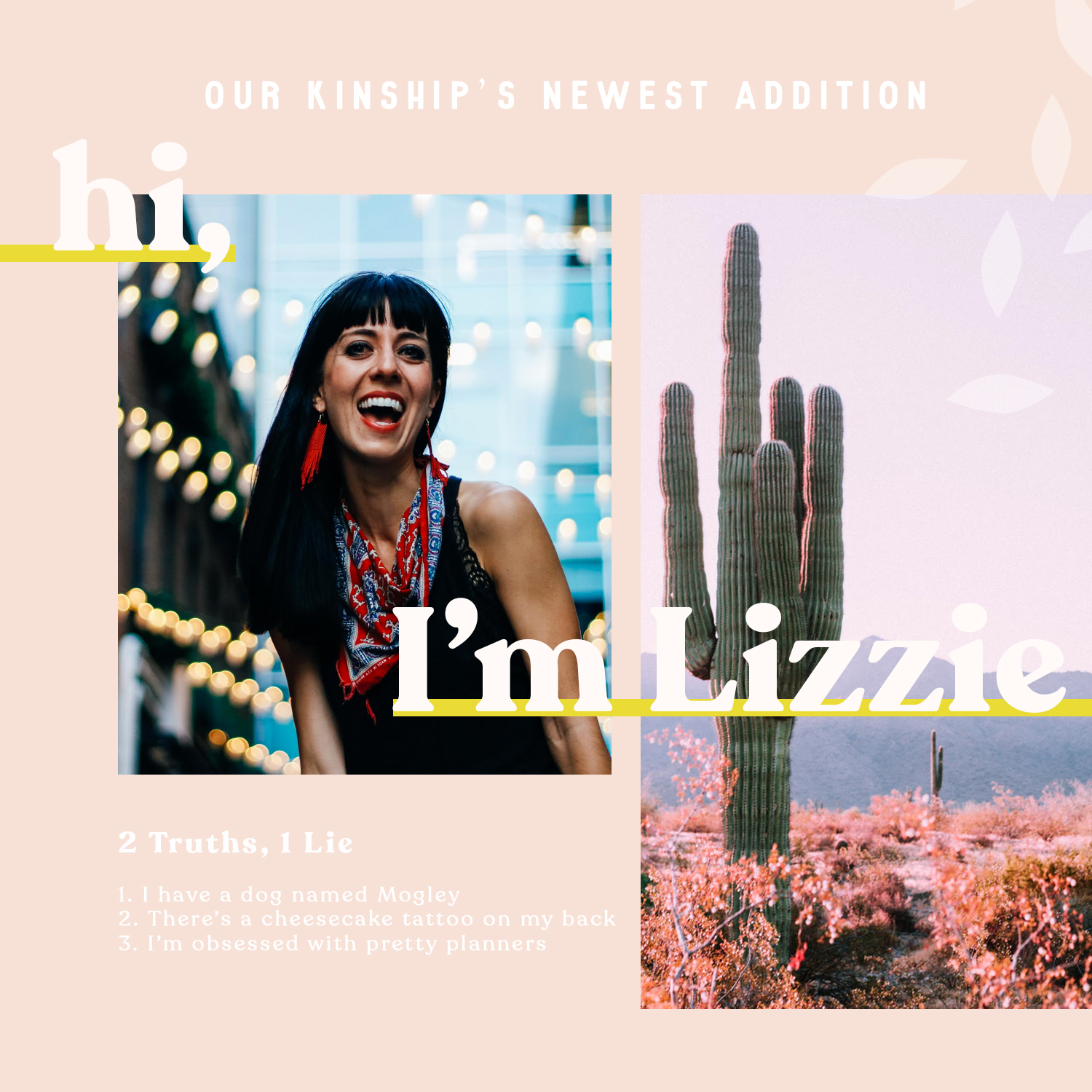 Instagram Post // 2 Truths & 1 Lie for New Hires
