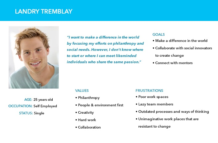 USER PERSONA 2: YOUNG PROFESSIONAL INTERESTED IN SOCIAL ENTERPRISES