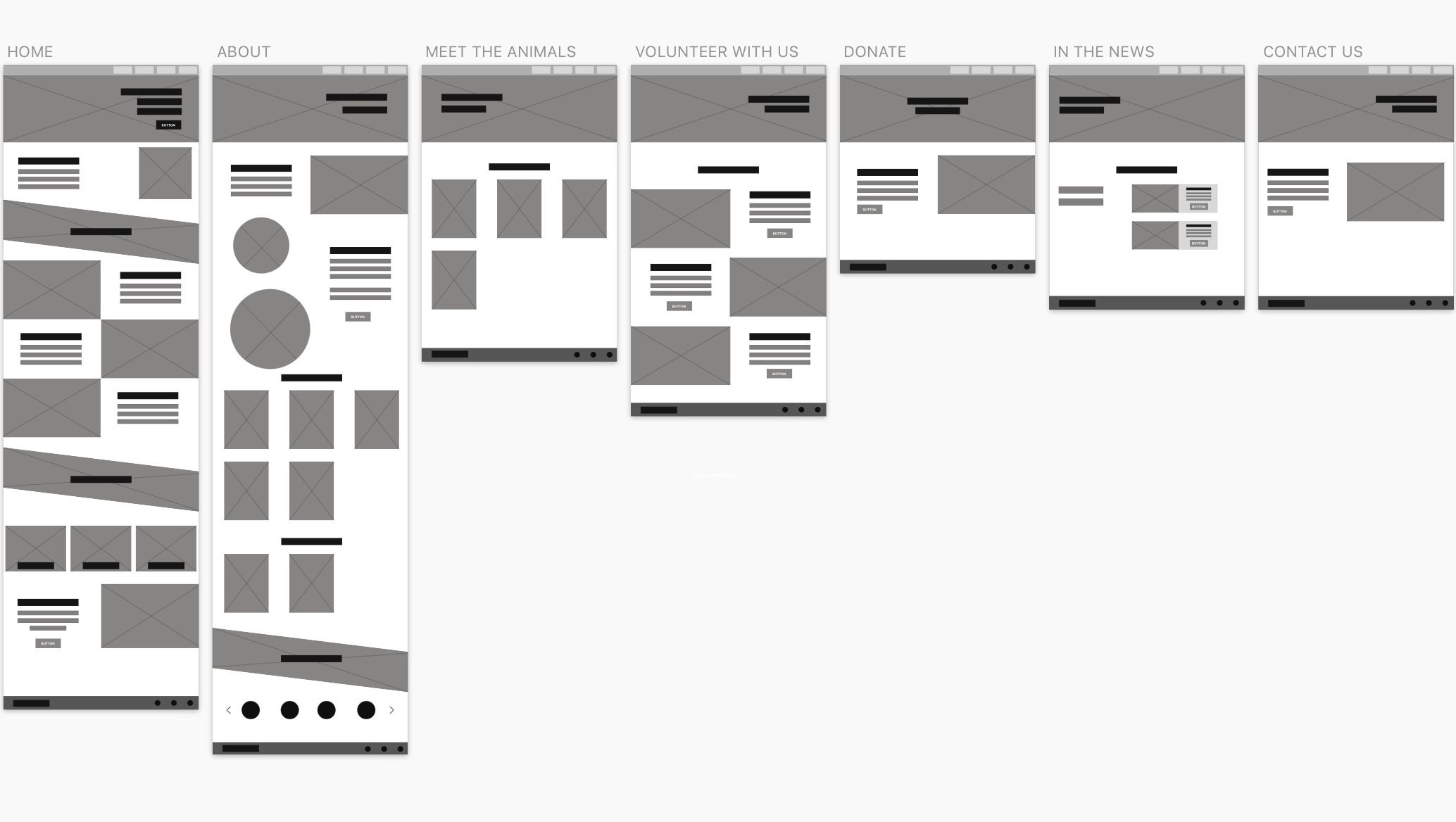 Lo-Fi Wireframes (Blockframing)