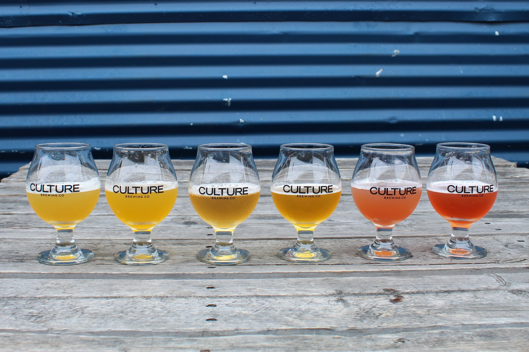Left to Right: Traditional, Guava, Mango, Tangerine, Blueberry Pomegranate, and Strawberry Rhubarb.