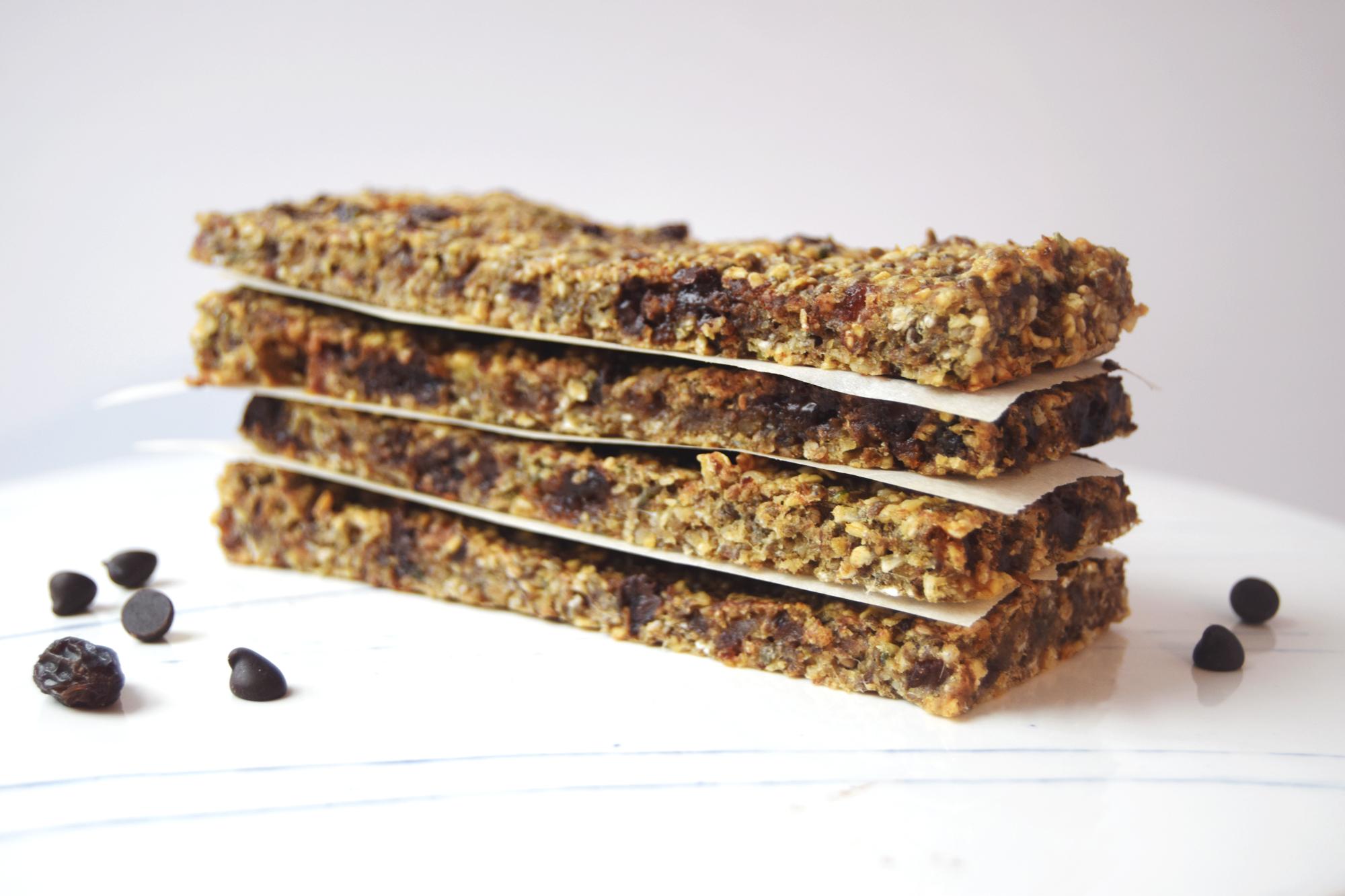 Healthy Nut Free Granola Bar Recipe - That Mama Glow