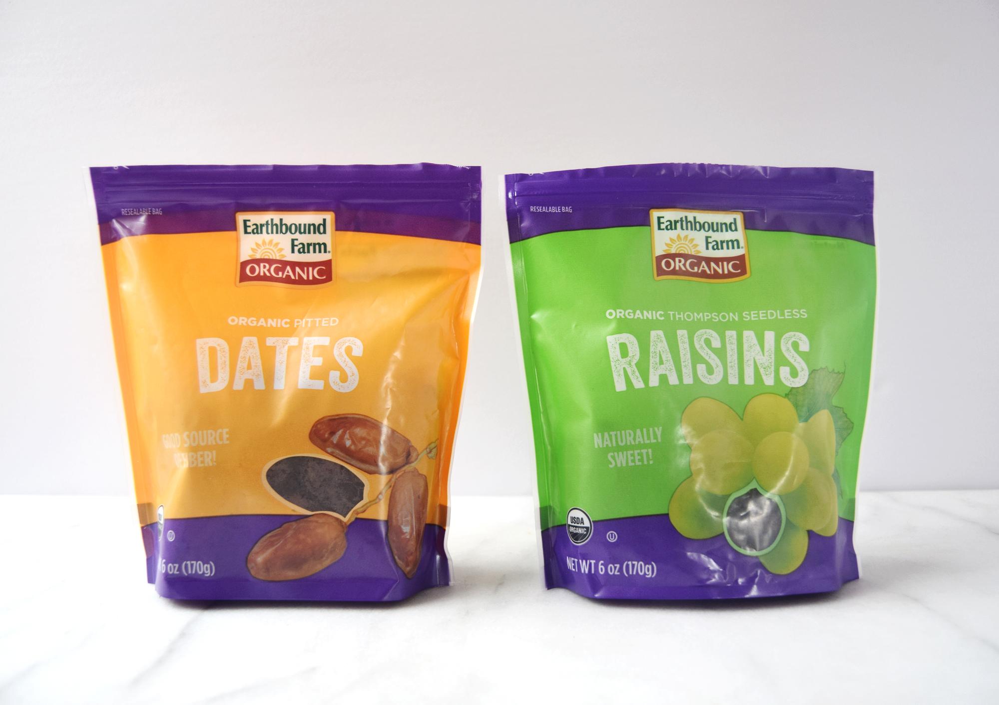 granola bars - dried fruit