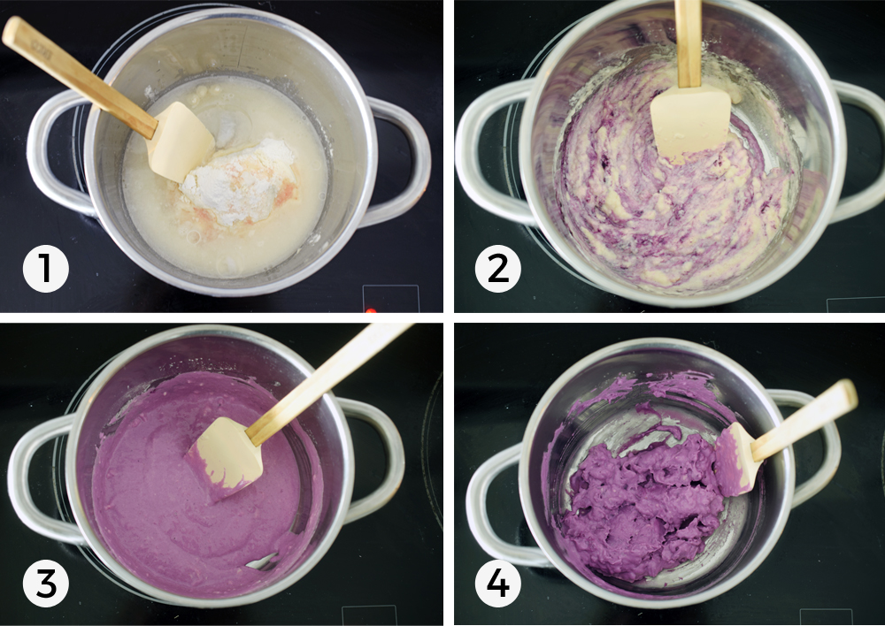 Homemade Playdough step by step instructions